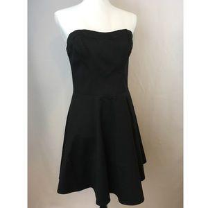 Express Sz 10 Strapless Black Dress, Zip Back